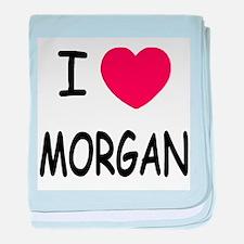 I heart Morgan baby blanket