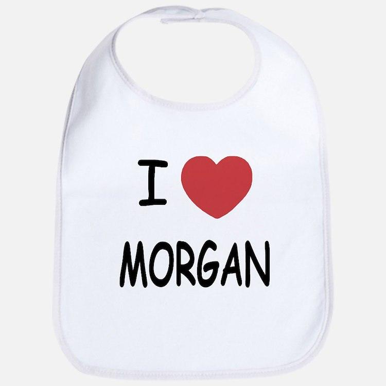 I heart Morgan Bib