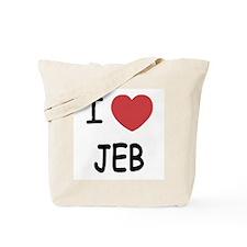 I heart Jeb Tote Bag