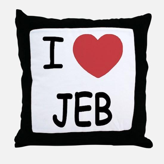 I heart Jeb Throw Pillow
