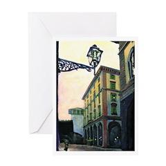 Italian Street Scene Greeting Card