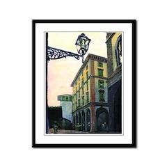 Italian Street Scene Framed Panel Print