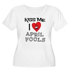 Kiss Me I Love April Fools T-Shirt