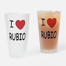 I heart Rubio Drinking Glass