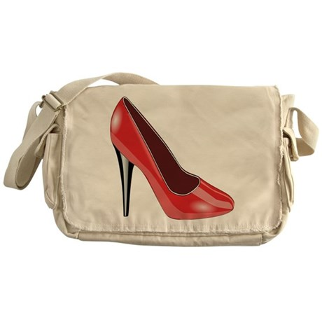 Red High Heel Messenger Bag