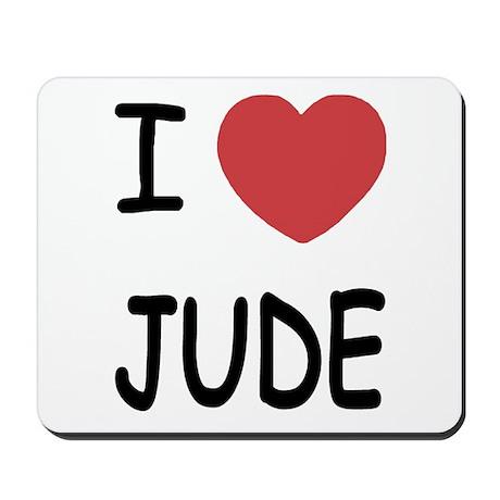 I heart Jude Mousepad