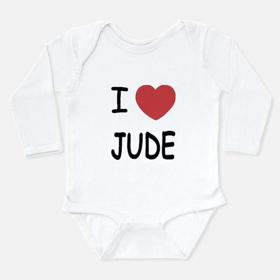 I heart Jude Long Sleeve Infant Bodysuit