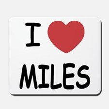 I heart miles Mousepad