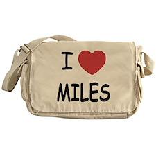 I heart miles Messenger Bag