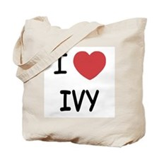I heart ivy Tote Bag