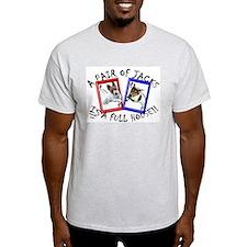 "Jack Russell Terrier, ""FULL H Ash Grey T-Shirt"