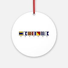 Nautical Daytona Ornament (Round)