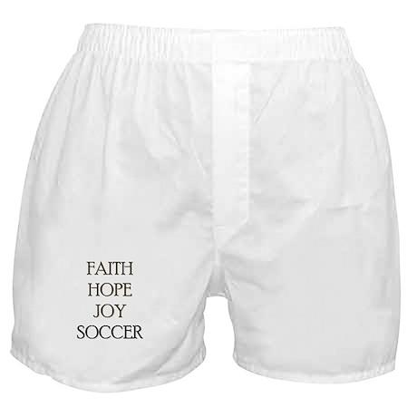 FAITH HOPE JOY SOCCER Boxer Shorts