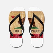 California Flag Flip Flops