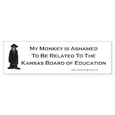 Monkey Ashamed Bumper Bumper Sticker