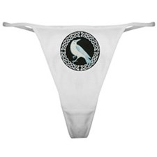White Crow Celtic design Classic Thong