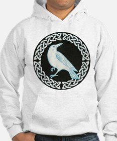 White Crow Celtic design Hoodie