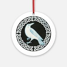White Crow Celtic design Ornament (Round)