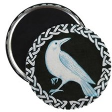 White Crow Celtic design Magnet