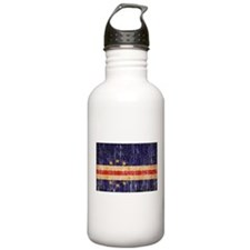Cape Verde textured aged copy.png Water Bottle