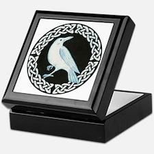 White Crow Celtic design Keepsake Box