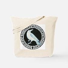 White Crow Celtic design Tote Bag