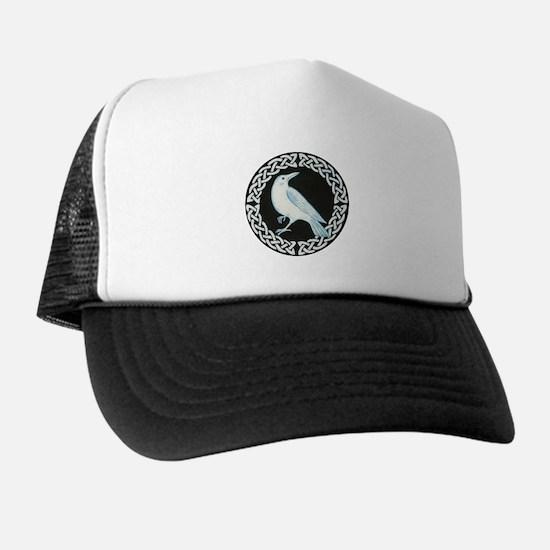 White Crow Celtic design Trucker Hat