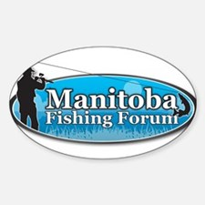 Manitoba Fishing Forum Sticker (Oval)