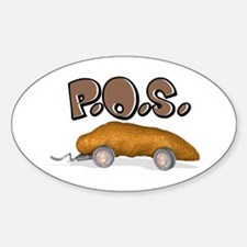 P.O.S. (Piece Of Shit) Oval Decal
