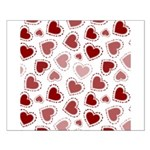 Fun Red Hearts Small Poster