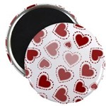 Fun Red Hearts Magnet