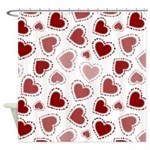 Fun Red Hearts Shower Curtain