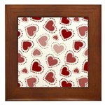 Fun Red Hearts Framed Tile