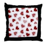 Fun Red Hearts Throw Pillow