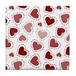 Fun Red Hearts Tile Coaster