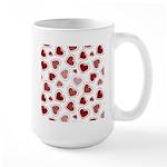 Fun Red Hearts Large Mug