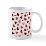 Fun Red Hearts Mug