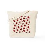 Fun Red Hearts Tote Bag