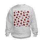 Fun Red Hearts Kids Sweatshirt