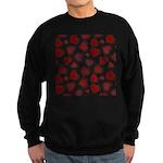 Fun Red Hearts Sweatshirt (dark)