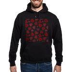 Fun Red Hearts Hoodie (dark)