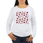 Fun Red Hearts Women's Long Sleeve T-Shirt