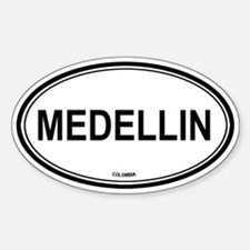 Medellin, Colombia euro Oval Decal