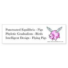 Flying Pigs Bumper Bumper Sticker