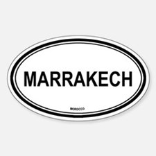 Marrakech, Morocco euro Oval Decal