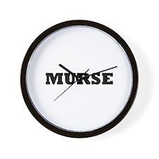 Murse - Male Nurse Wall Clock