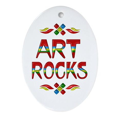 Art Rocks Ornament (Oval)