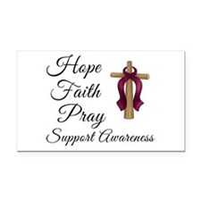Hope Faith Prayer Rectangle Car Magnet