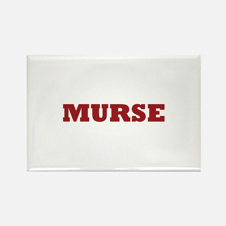 Murse - Male Nurse Rectangle Magnet