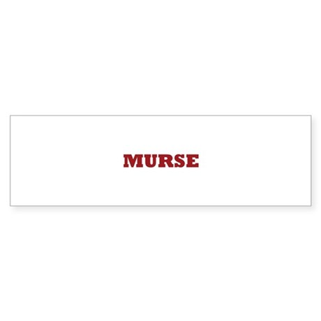 Murse - Male Nurse Sticker (Bumper)